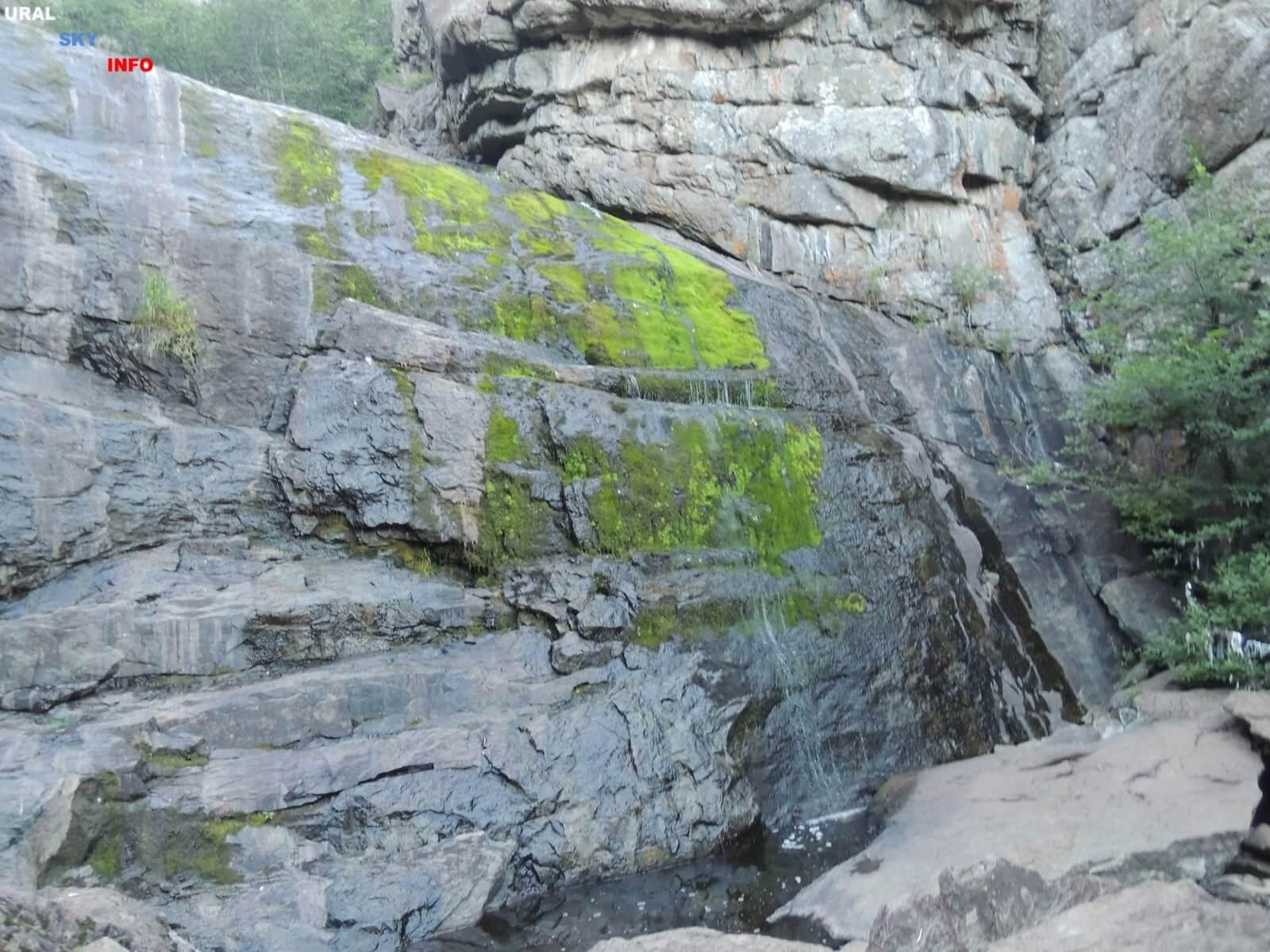 Водопад Гадельша в Сибае (Башкирия)